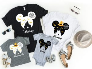Halloween-inspired Disney Family Shirts