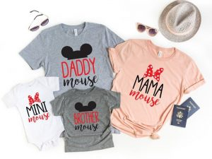classic Mickey and Minnie Mouse shirts Disney Family Shirts