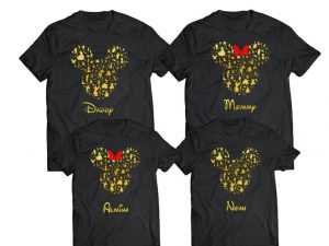 Disney shirt with small golden characters