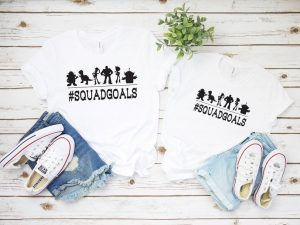squad goals shirts with Toy Story characters Disney Family Shirts