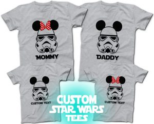 gray Star Wars storm troopers shirts