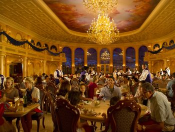 bustling, extravagant dining room Disney restaurants