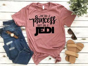 pink Star Wars-inspired Disney shirts for women