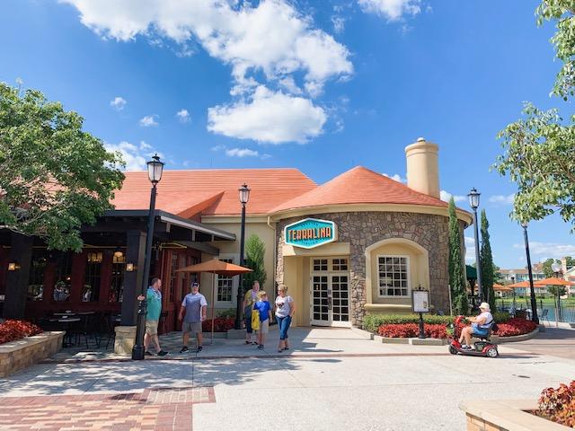 Disney Springs Restaurants Terralina exterior and main entrance