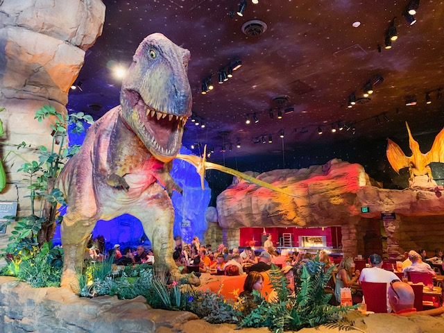 T Rex Is one of the best Disney restaurants and is located at Disney springs