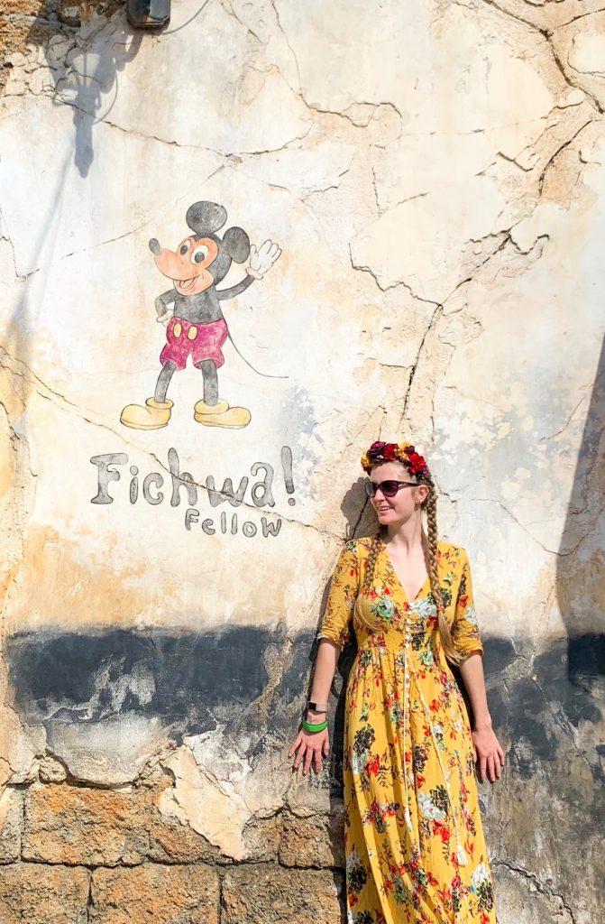 Hidden Mickey wall at Disney's Animal Kingdom