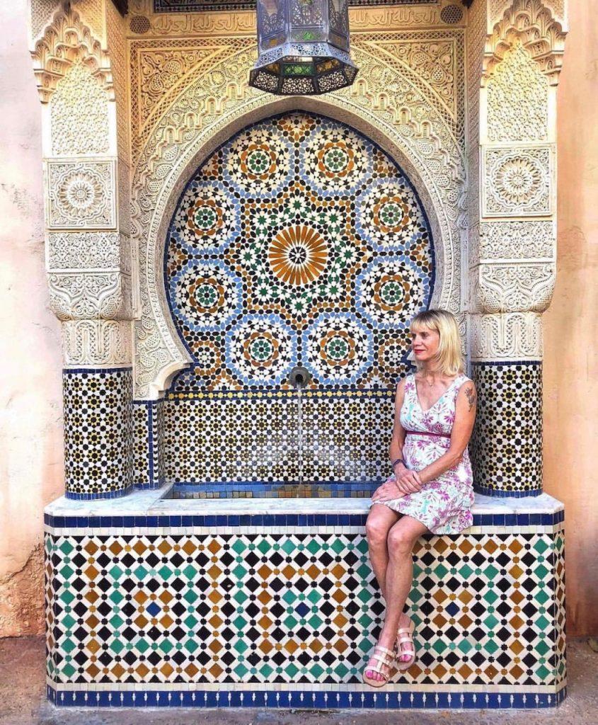 Cute tiles at Morocco at Epcot