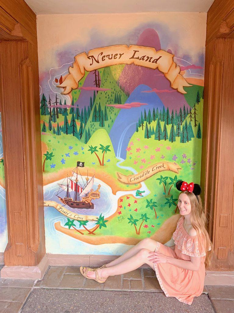 Neverland wall at Magic Kingdom