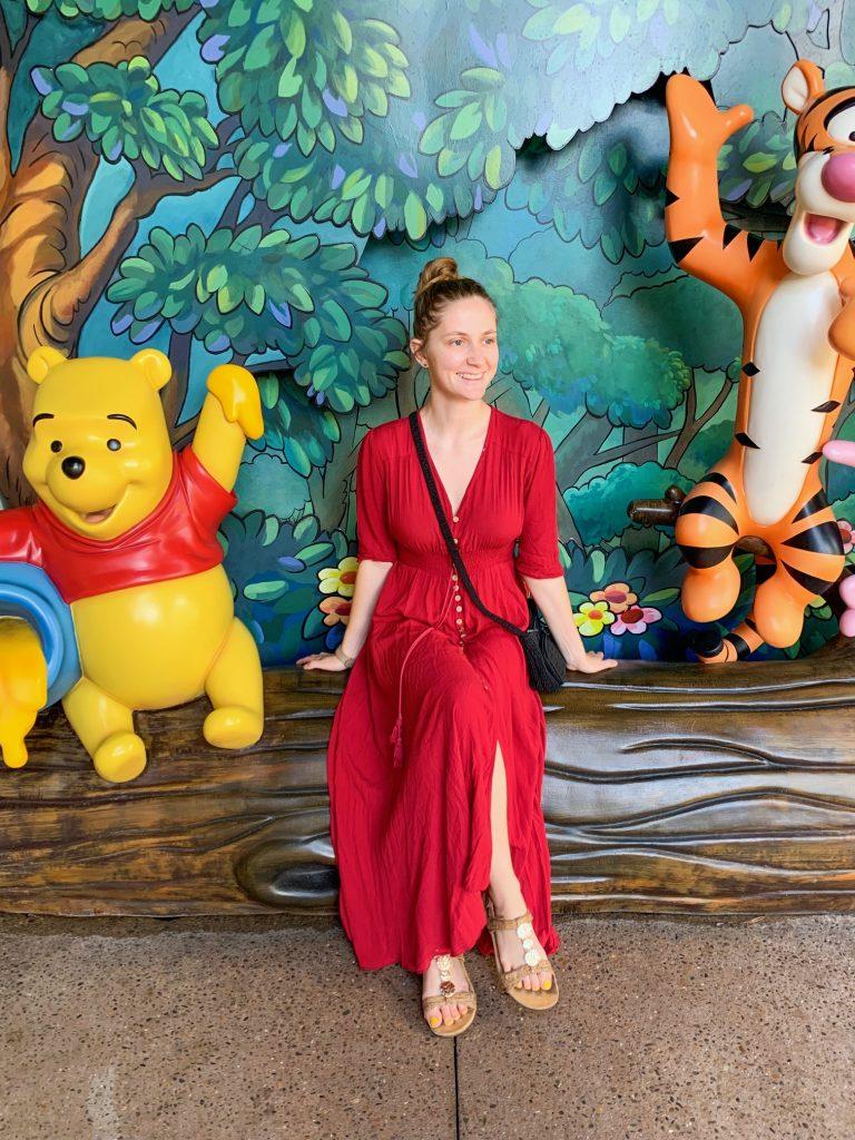 Winnie The Pooh Instagram wall at Disney springs