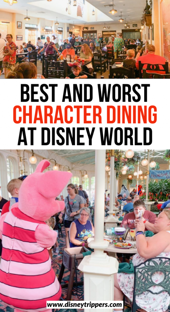 Best And Worst Character Dining At Disney World | Best places for Disney World character dining by park | character meals at Disney | tips for dining with characters at Disney | Best disney restaurants | what to eat at Disney | where to eat at Disney World | tips for food at Disney #disneydining #disneyfood #disneytips