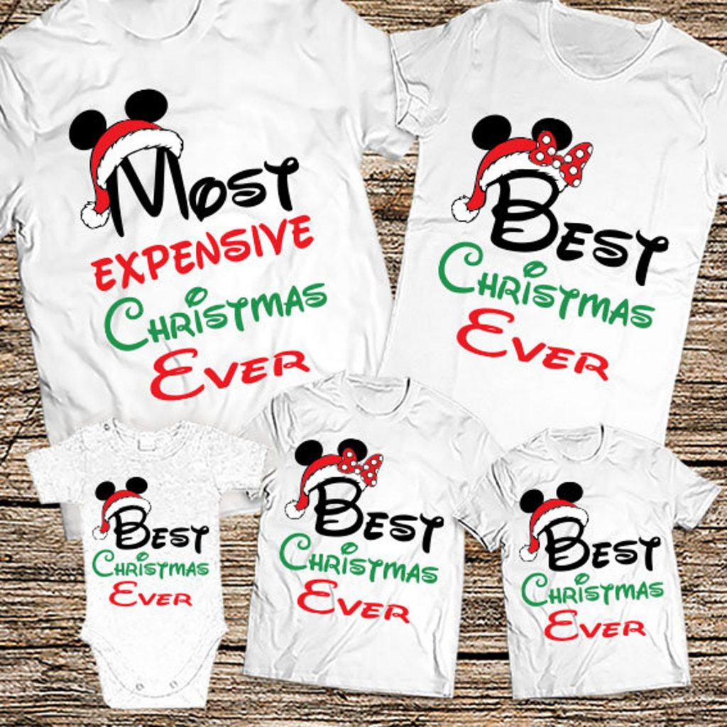 Most Expensive Christmas Ever matching Disney family shirts for christmas holidays