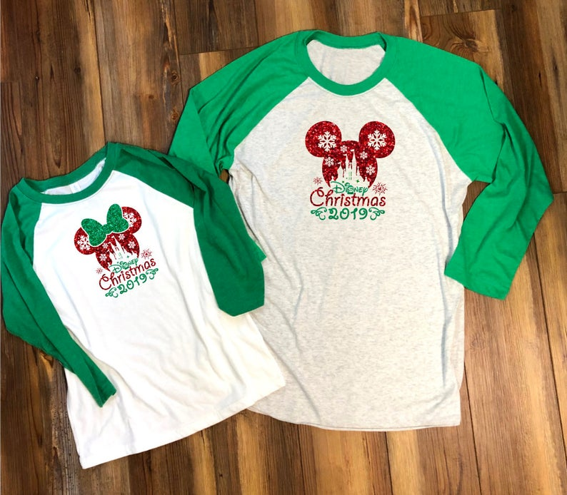 Sparkle Mickey Ear Christmas Shirts for Disney lovers