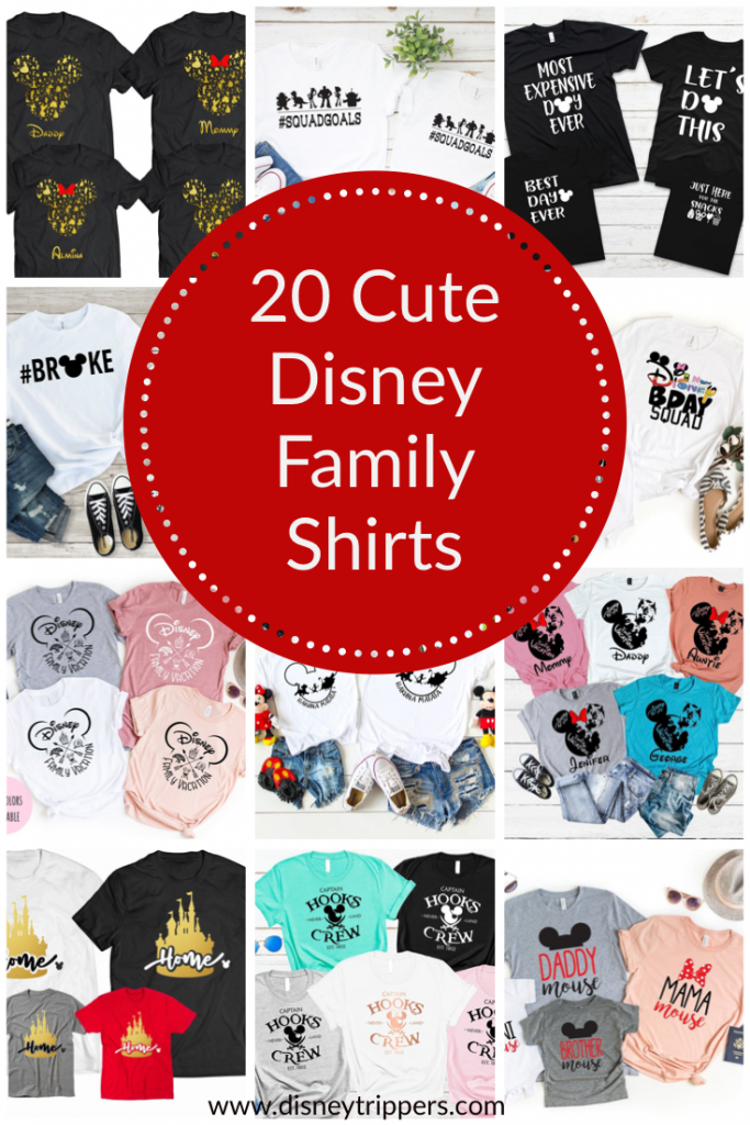 20 Cute Disney Family Shirts For Your Next Trip To Disney   Best Matching Family Shirts for Disney   what to wear to Disney as a family   disney packing tips   matching family shirts to wear to Disney World   Disney planning tips #disney #disneypacking #disneyshirts