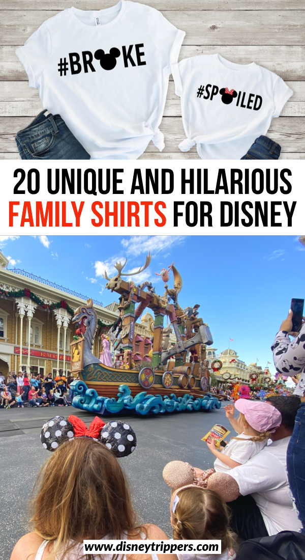 20 Unique And Hilarious Disney Family Shirts | matching shirts for Disney World | cute matching family shirts for Disney | matching Disney shirts to wear to the parks | what to pack for Disney World | Disney packing list | tips for  packing for Disney World | Disney travel tips | tips for planning a Disney world vacation #disney