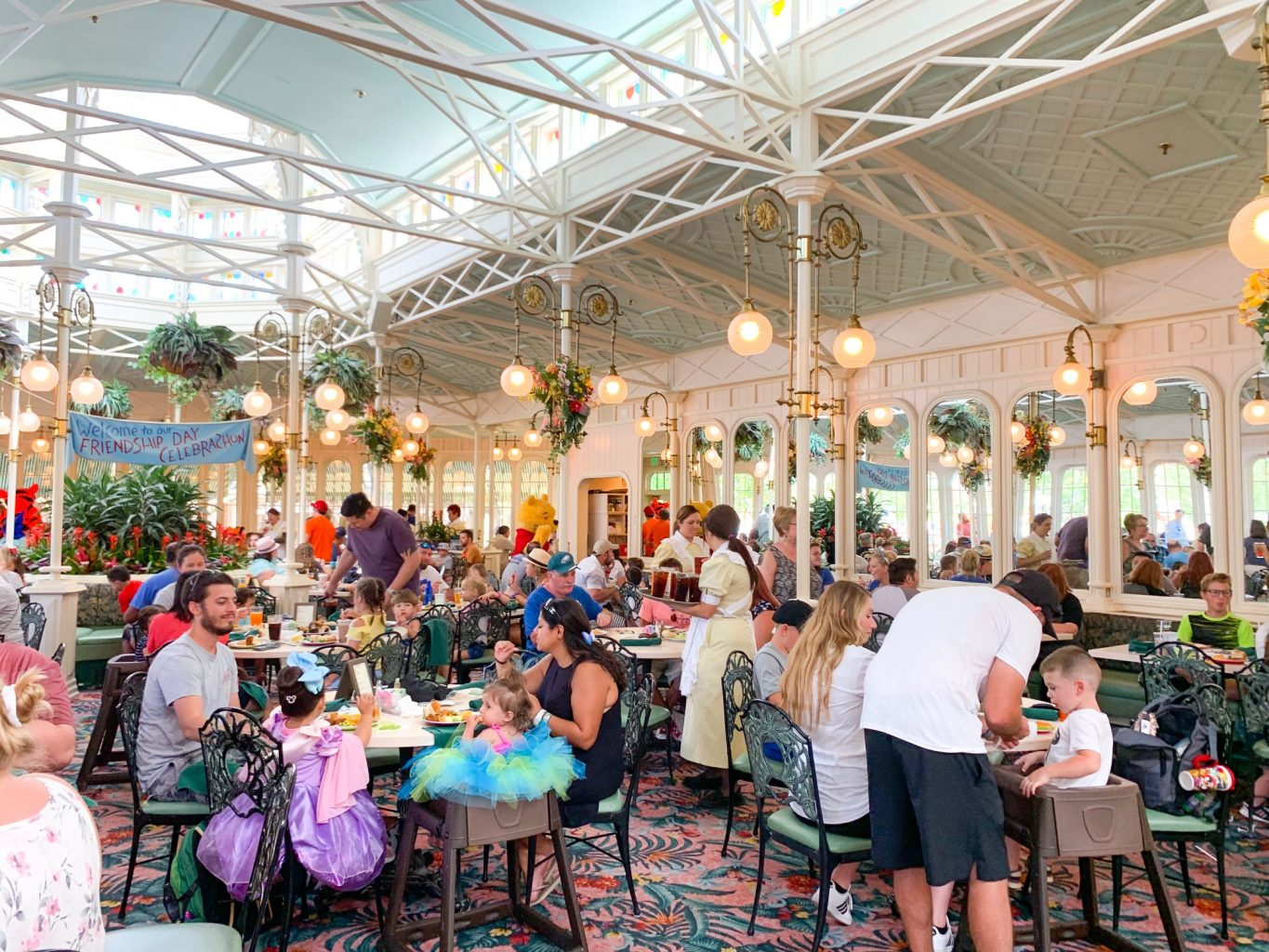 Crystal Palace is one of the best character dining options at Disney restaurants