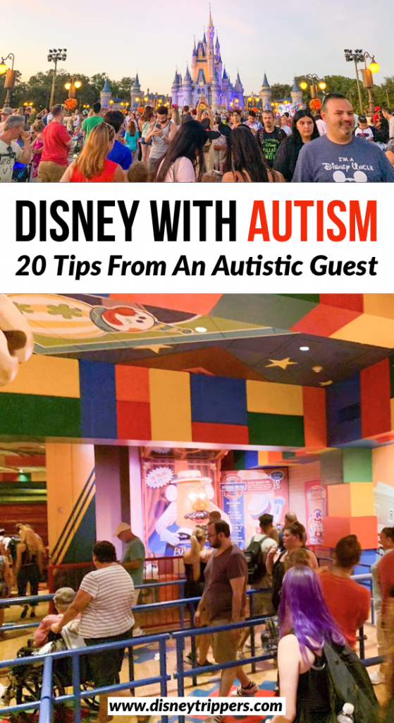 Disney With Autism: 20 Tips From An Autistic Disney Guest | How to visit Disney with an autistic child | Disabilities at Disney | Disney vacation tips with Autism | how to visit disney with a disability | tips for visiting Disney world | planning a trip to Disney world with autism | disney vacation planning tips #disney #autism