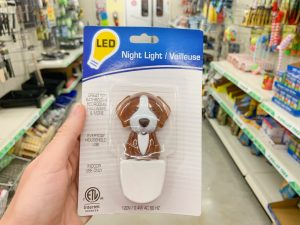 dog-shaped night light