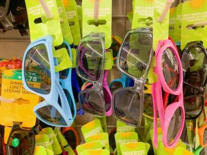 four pairs of children's sunglasses Dollar Tree Disney