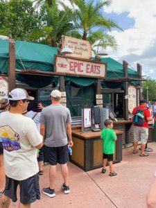 busy, rustic epic eats ordering area Hollywood Studios quick service