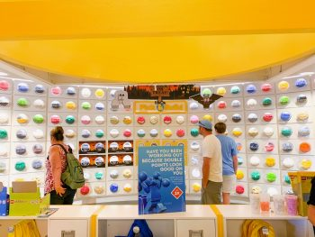 Inside the lego store at Disney springs