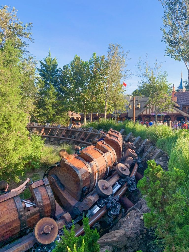 Seven Dwarves Mine Train Ride is one of the best Fast pass options at Disney World #fastpass #disney
