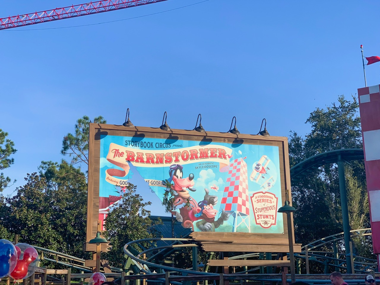 goofy's barnstormer sign