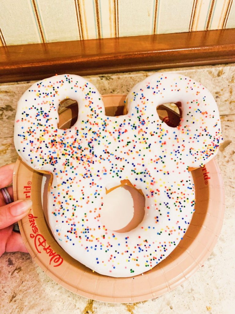 Mickey Donut at Starbucks At Disney