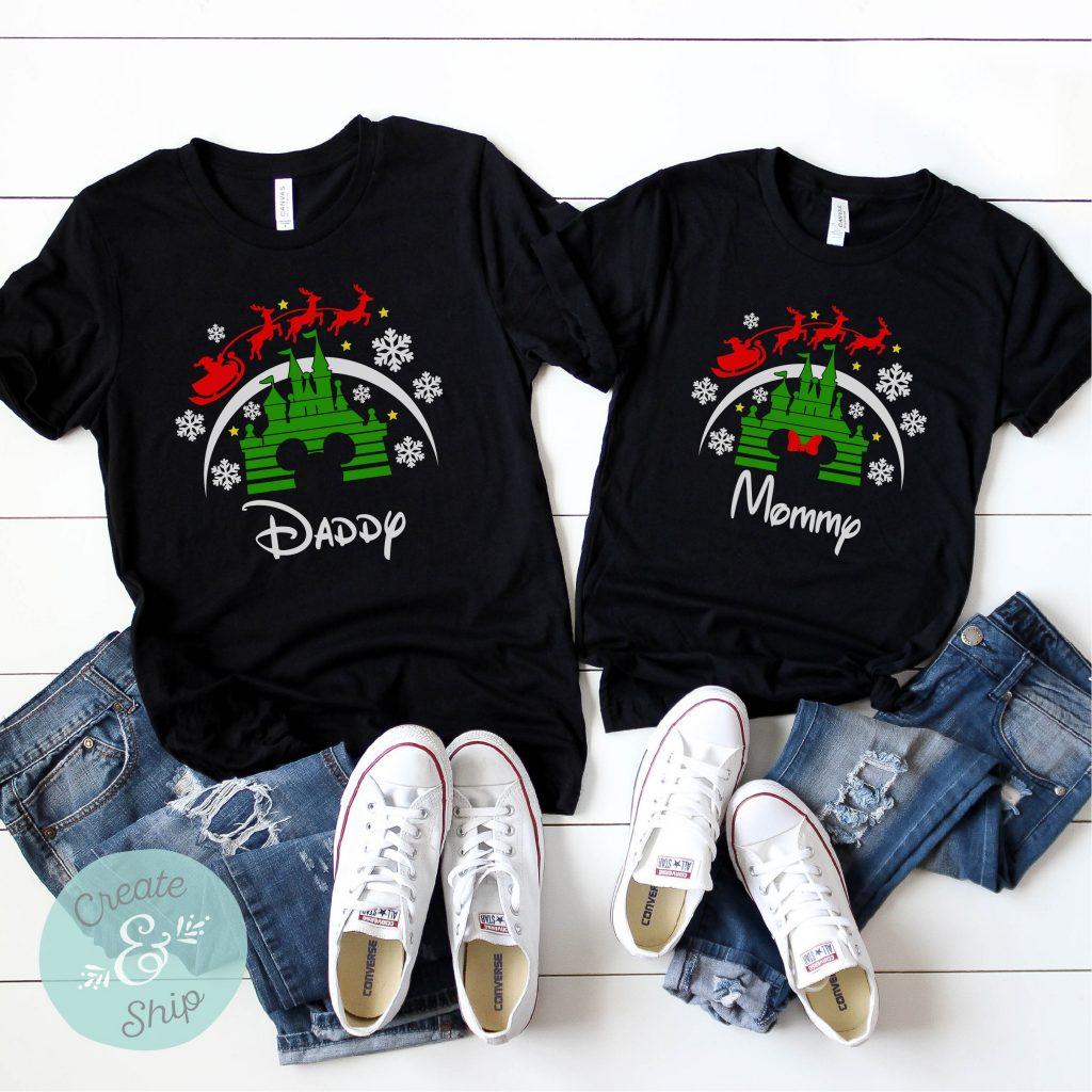 Custom Castle Family Christmas shirts