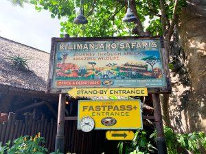 kilamanjaro safaris fastpass sign