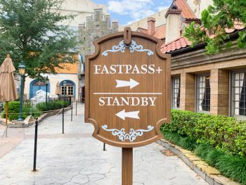 wooden disney sign fastpass and standby