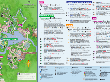 official Animal Kingdom map