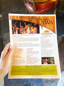 paper newsletter called the daily Iwa