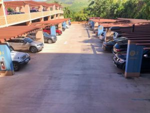 cars in outdoor parking lot