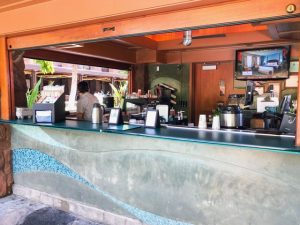 wooden outdoor coffee spot Disney Aulani Review