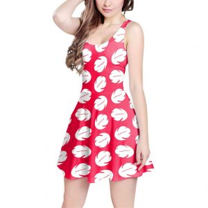 girl wearing red dress with white leaves Disney Dresses for women