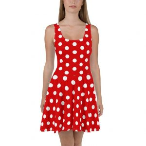 red and white polka dot dress Disney dresses for women