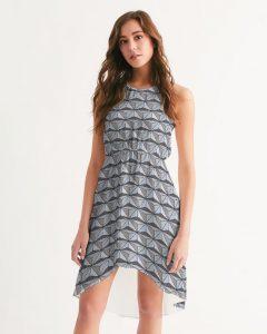 gray geometric patterned dress Disney dresses for women