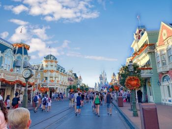 Magic Kingdom street with Cinderella's Castle at the end Disney secrets