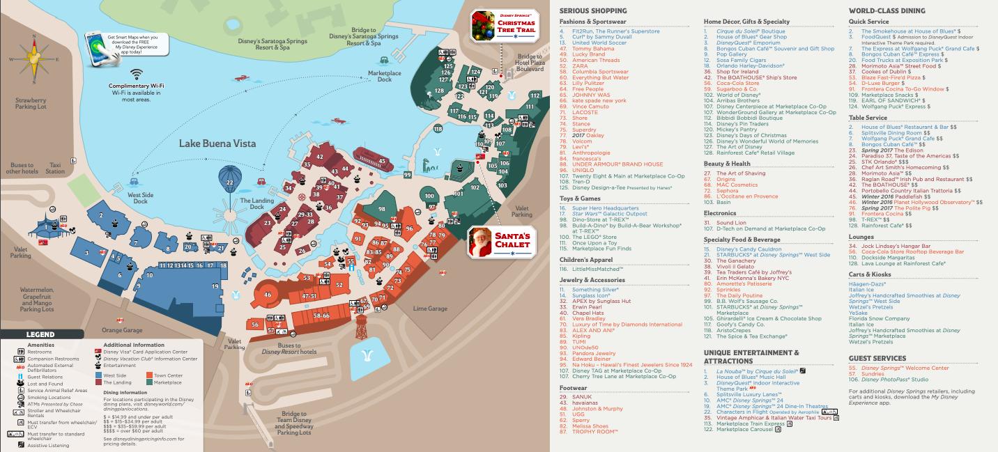 Official Disney Springs Map