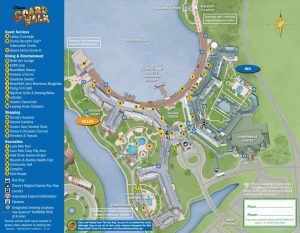 Map of Disney's Boardwalk hotel which shows the best rooms to choose at Disney resorts