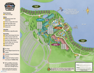 Detailed map of Fort Wilderness Lodge at Disney world