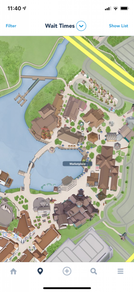 Map of the Marketplace At Disney Springs