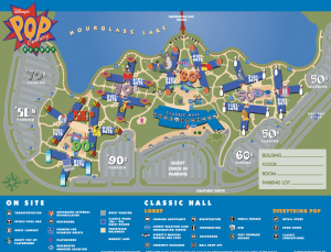 Disney's Pop Century Hotel map