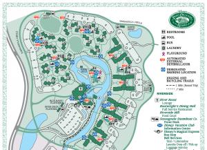map of Disney's Port Orleans resort