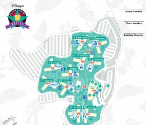 Map Of Disney's All-Star Movie Hotel