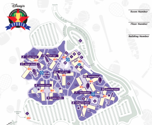 Disney's All-Star Sports Map Of Property