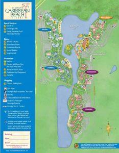 Map Of Disney's Caribbean Beach Resort hotel