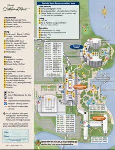 Map of Disney's Contemporary resort