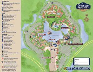 Detailed map of Disney Coronado springs hotel