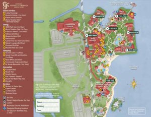 Map Of Disney's Grand Floridian hotel resort